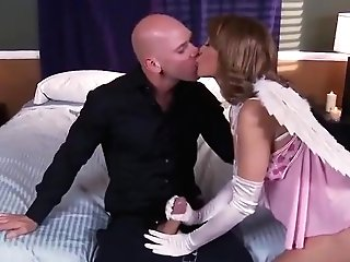 Lucky Bald Dude Fucked Two Horny Cougars In Ffm Threesome Vid