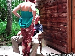 Duo Pefect Mummy Outdoor Fuck At Forest Mansion