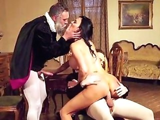 Excellent Costume Play Threeway With Horny Cougar And Two Horny Gents
