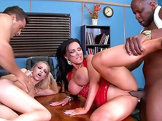 Extreme Four-way With Alex Grey And Appealing Nikki Benz