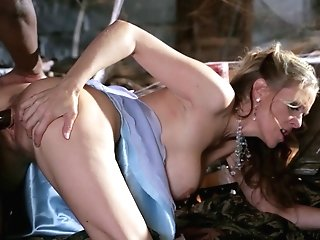 Black Stallion Gets To Have Fun With A Spear Longing Woman's Vulva