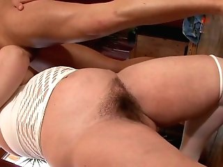 Youthful Dude Fucks Old Bitch Kati Right In The Office