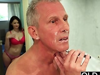 Old And Youthfull Hot Wifey Likes To Get Fucked By Old Man Fuck-stick