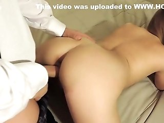 Dad Gives Step-daughter-in-law A Rear End Style Fuck Lesson Before Mom Gets Home!