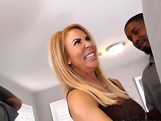 Ass Fucking Mega-slut Cougar Erica Lauren Interracial Gang-bang