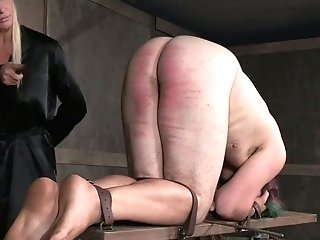 Attractive Mistress London Sea Penalizes Tied Up Man In The Sadism & Masochism Room