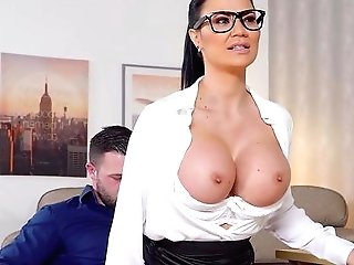 Huge-chested Matures Works Magic On A Junior Dick