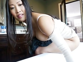 Asian Cougar With Ideal Bod Sharon Lee Bangs Her Euro Stepson
