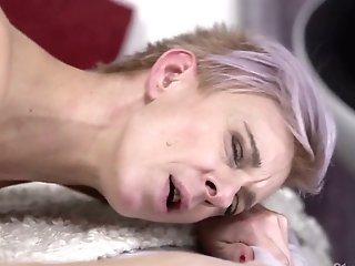 Noisy Youthful Neighbor Knows How To Please Old Angry Woman Belinda Bee