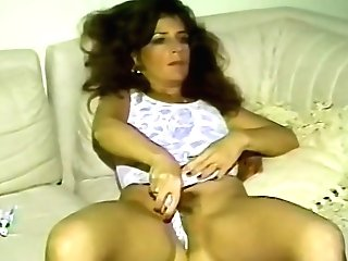 Lovely Dark Haired Gets Her Poon Crammed With A Big Friend's Boner