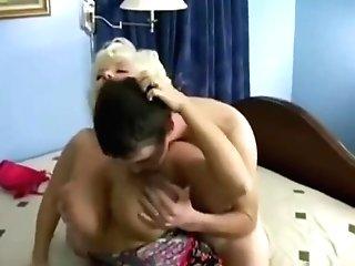 Matures Blonde Mom With Gardener