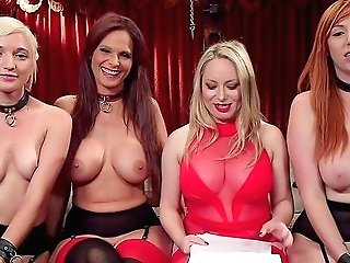 Bondage & Discipline Soiree With Rich Folks And Sub Breezies Lauren Phillips And Eliza Jane