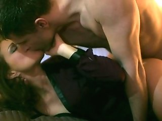 Dark Haired Has Excellent Sexual Practice And Splays It With Hard Cocked Boy
