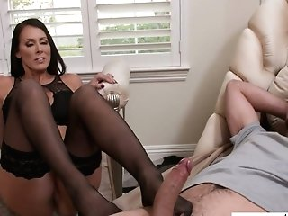Sexy Mummy In Sexy Undergarments Reagan Foxx Luvs Railing A Dick