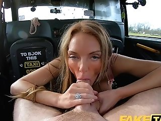 Faux Cab Big-titted Welsh Mummy Stacey Saran Wanks And Fucks On Cab Backseat