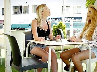 Voluptuous Blondes Share A Big Dick In Premium Scenes