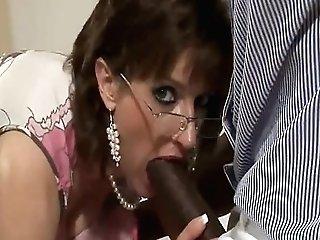 Brit Mummy Blows A Big Black Cock