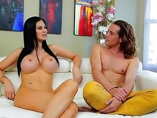 Dark Haired Jasmine Jae With Big Melons Shows Off Her Hot Figure As She Gets Poked Hard And Deep By Tyler Nixon