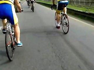 Women In Bike Cut-offs Shiny