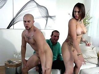 Two Bisexual Dudes Fuck Awesome Tattooed Hooker Tori Avano