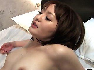 Asian Mummy Runa Kanzaki Gets Her Honeypot Slammed And Creampied
