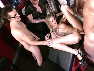 Ass-fuck-insane And Spunk-thirsty Bitches Gets Fucked By Horny Dudes At The Bar