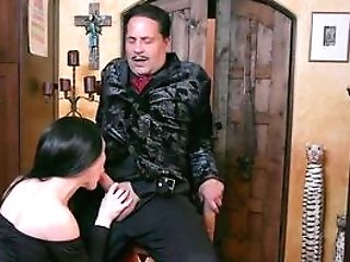 Brown-haired Nubile In Pornography Parody On The Adams Family
