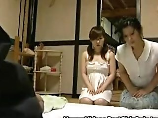 Asian Japanese Matures Duo Home Sexual Active