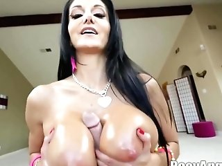 Buxom Woman, Ava Addams Is Using Her Milk Jugs To Give A Hard- On To Her Paramour