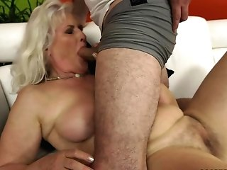 Silver Haired Granny Judi Gets Rammed