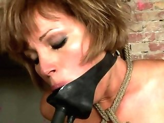 Cougar Sylvia Laurent Gets Down On Her Knees To Be Facehole Fucked