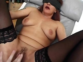 Blinded And Tied Mama Fucked With Facial Cumshot