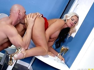 Big-titted Mummy Alena Croft Entices And Fucks A Well Draped Dude At A Soiree