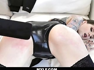 Mylfdom - Tattooed Up Bombshell Tied Up For Hard Rough Fuck