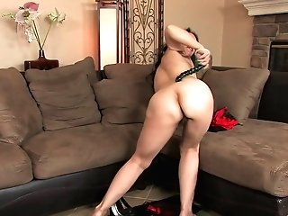 Certain And Lusty Nina Swiss Shows Her Hairy Twat And Pleases It