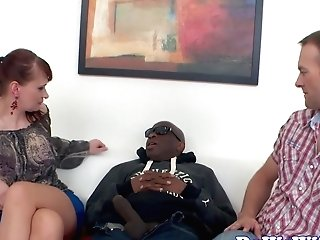 Ginger-haired Housewife Gets Creampied By Big Black Cock