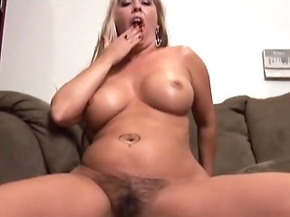 Fabulous Superstar In Crazy Blonde, Getting Off Xxx Scene