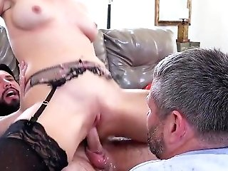 Zoey Monroe In Super-naughty Home Hotwife Display Along Hubby
