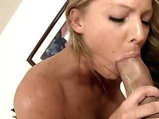 Blonde Brianna Brooks With Massive Melons Shows Her Love For Instrument Sucking In Dt Act With Billy Slip