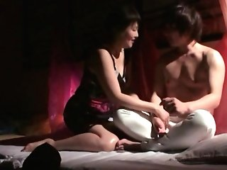 Adorable Japanese Hotty Gets Her Poon Frigged By A Friend