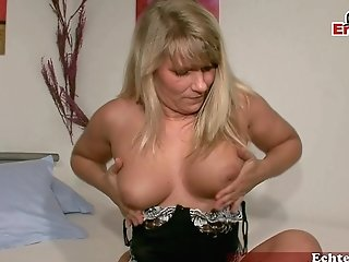 Germam Blonde Gross Housewife At Casting