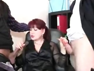 Matures Office Lady In Stockings Railing And Sucking