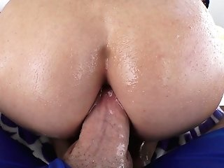Bootyful Chick Crystal Rush  Shows Fellatio Master Class And Gets Her Bung Ruined