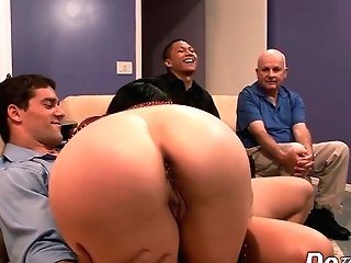 Sexy Dark Haired Housewife Tacori Blu Fucked Rectally In Front Of Spouse