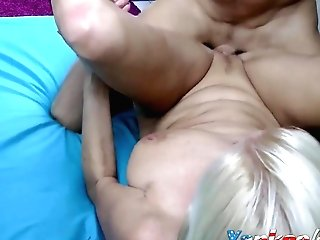 Horny Blonde Cougar Who Loves Being Fucked Hard
