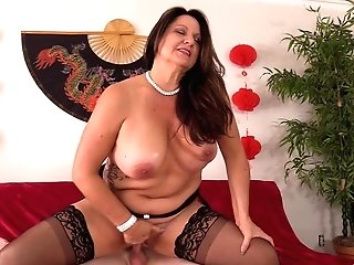 Dark Haired Mummy Laylani Wood Knows How To Please Her Friend's Sexual Needs