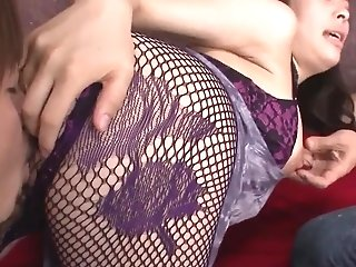 Fishnet Bareness And Hard-core Glory For Youthful Kyouko Maki - More At 69avs.com