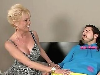 Exhilarated Auntie Loves Playing With Cousin's Youthful Dick