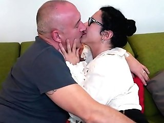 Hairy Mom And Wifey Fucking And Sucking Big Man Sausage