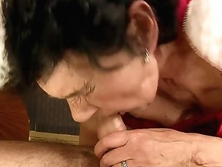 Matures And Hot Dude Are So Fucking Horny In This Dick Sucking Act